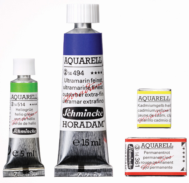 Schmincke Horadam Aquarel Watercolor: Ivory Black, 15 ml Tube