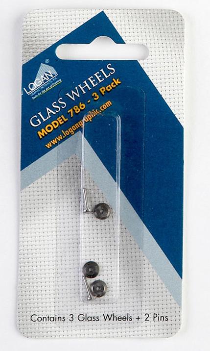 Logan 786 Glass Cutter Wheels: Fits 704, Pack of 3