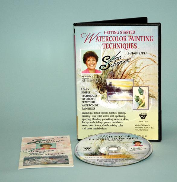 Susan Scheewe DVD: Getting Started, Watercolor (2 Hour)