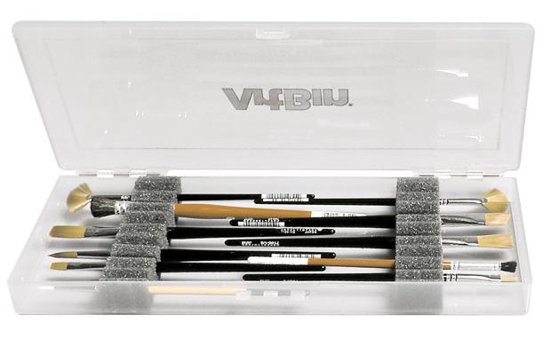 "Flambeau ArtBin Brush Box with Foam Inserts: Translucent, 14\"" x 6\"" x 1.25\"""