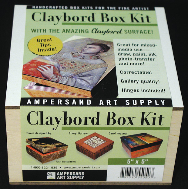 "Ampersand Claybord Smooth Box Kit: 5"" x 5\"", Case of 4"