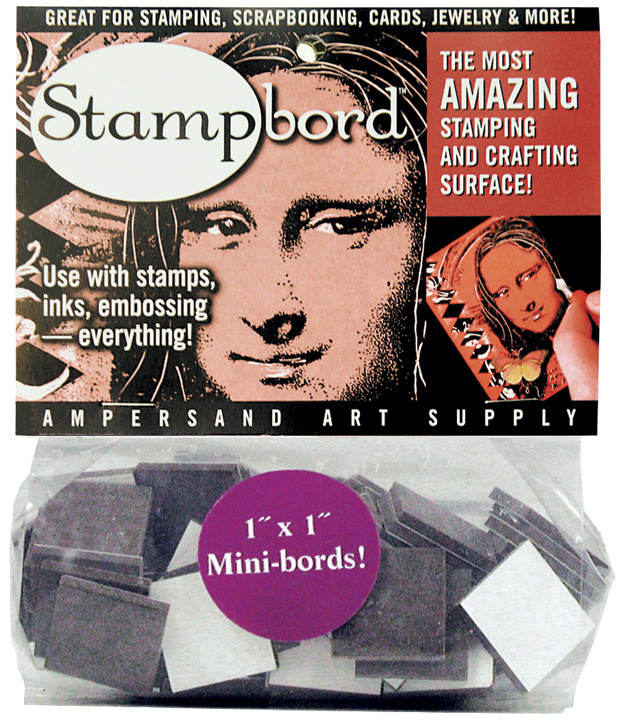 "Ampersand Stampbord: 1"" x 1\"" Bag, Case of 10"