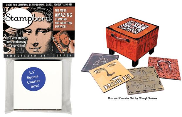 Ampersand Stampbord: Square Coaster, Case of 10