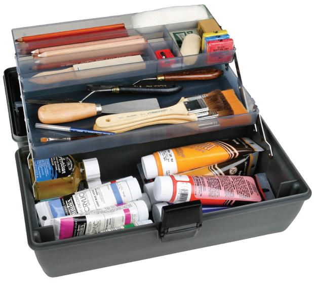 "Artbin Metal Links Upscale 2 Tray Box: Slate Gray, 14.5\"" x 8\"" x 7\"""