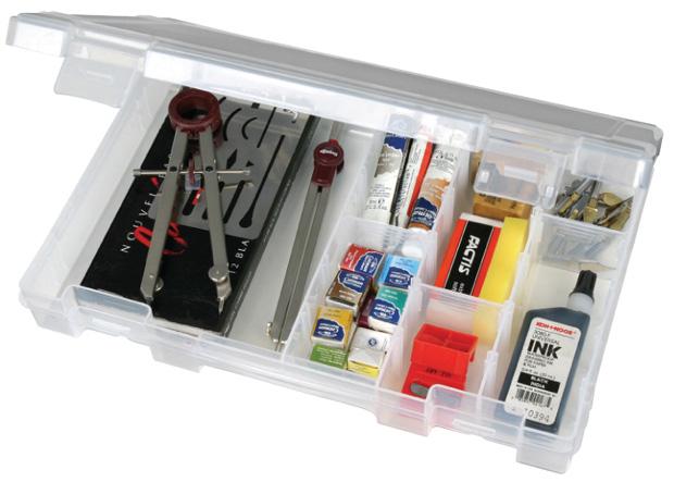 "Artbin Solutions Medium 4 Compartment  Box: Translucent, 10.75\"" x 7.375\"" x 1.75\"""