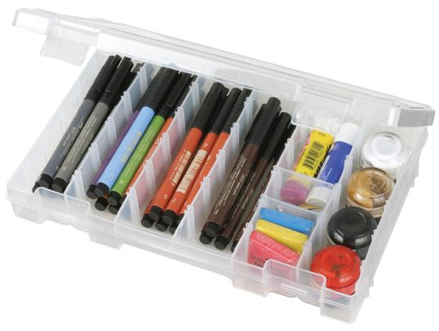 "Artbin Solutions Medium Box: 6 Compartment, Translucent, 10.75\"" x 7.375\"" x 1.75\"""