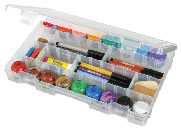"Artbin Solutions Large Box:  4 Compartment, Translucent, 14.125"" x 9\"" x 2\"""