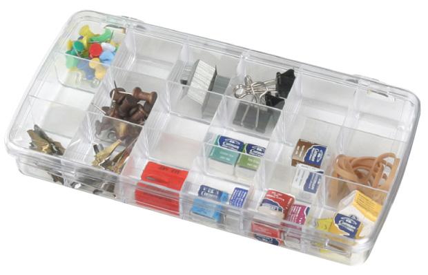 "Artbin Prism Box: 18 Compartment, Transparent, 8.875\"" x 4.875\"" x 1.375\"""