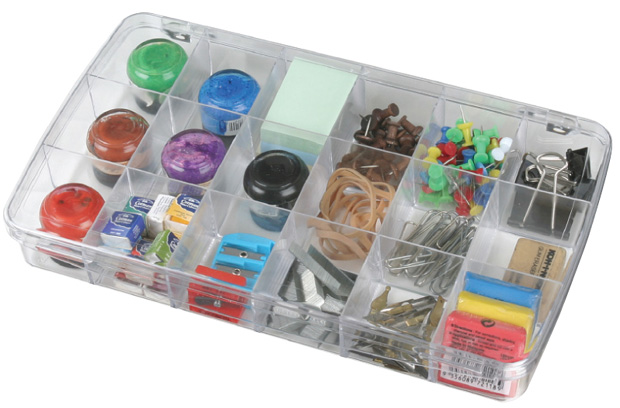 "Artbin Prism Box: 18 Compartment, Transparent , 11.5\"" x 6.625\"" x 1.75\"""