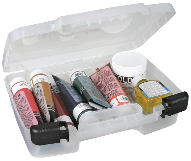 "Artbin 12"" Quick View Deep Base Carrying Case: Clear Transparent"