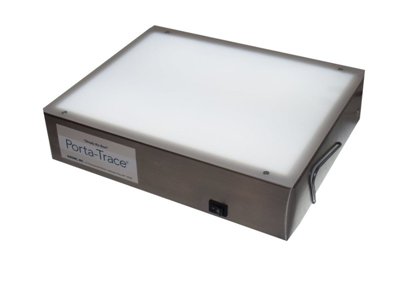 "Gagne Porta-Trace Light box: 10"" x 12"", Stainless Steel Frame, Two LED Lamps"