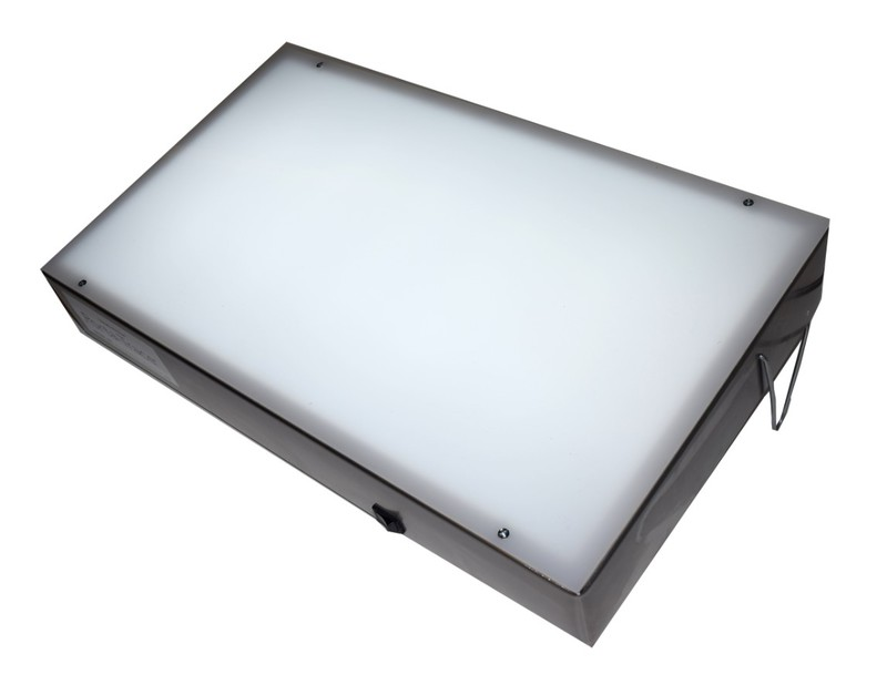 "Gagne Porta-Trace Light box: 11"" x 18"", Stainless Steel Frame, One LED Lamp"