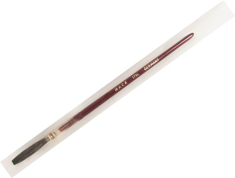 Mack Brown Pencil Quill Series 179L: #12, With Red Lacquered Handle
