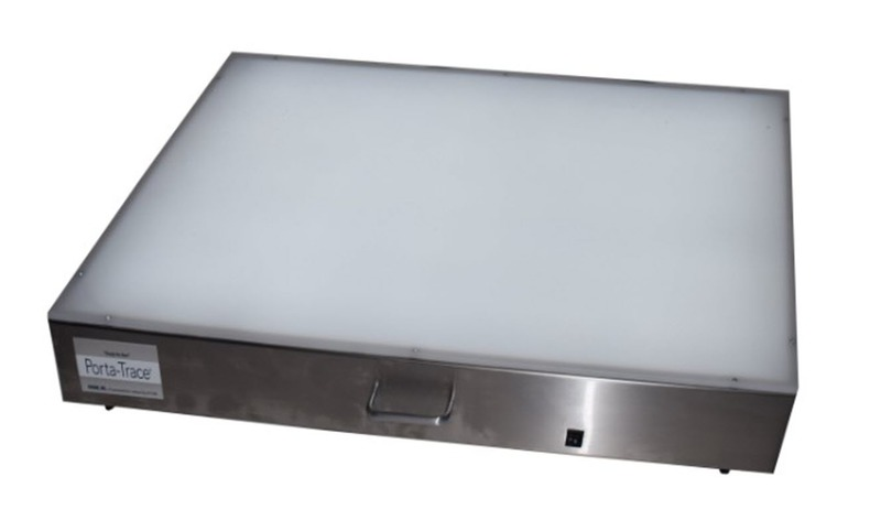 "Gagne Porta-Trace Lightbox: 18"" x 24"", Stainless Steel Frame, LED Lamps"