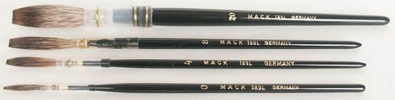 Mack Grey Pencil Quill Series 189L: #14, With Black Lacquered Handle