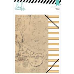 American Crafts - Heidi Swapp - Wanderlust Portfolio Folder 6inX8in - Gold Foil Accents & Elastic Band Closure