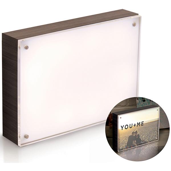 We R Memory Keepers - Photolights - Backlit Wood Finish with Acrylic Frame - 5x7 - Ebony