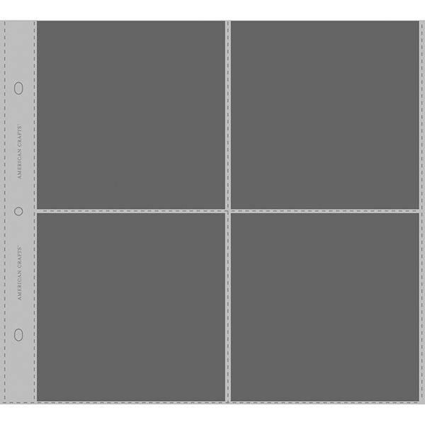 American Crafts - Top - Loading Page Protectors 12x12 10 Pack (4) 6x6 Pockets
