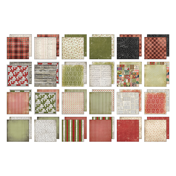 Advantus - Tim Holtz - Ideaology - Mini Paper Stash Tidings 6x6