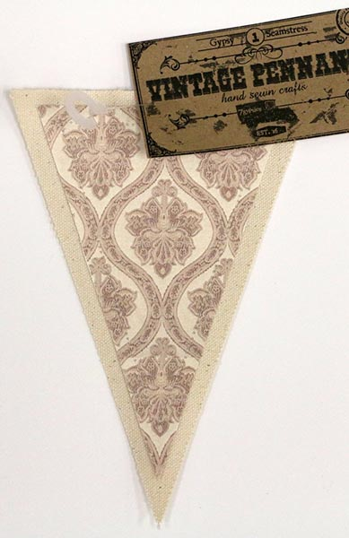 Canvas Corp - Vintage Pennant - Damask