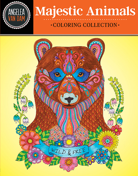 Design Originals - Hello Angel - Majestic Animals Coloring Book
