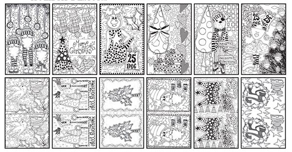 Ranger - Dyan Reaveley - Dylusions - Colouring Sheets - 5 x 8 Holiday