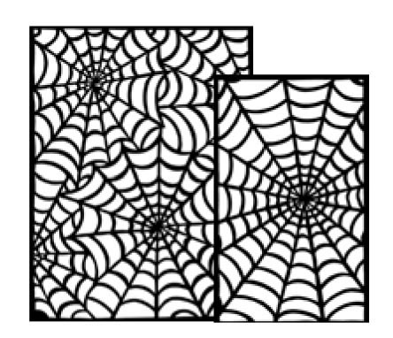 Ranger - Dyan Reaveley - Dylusions - Stencils - Cobwebs Large