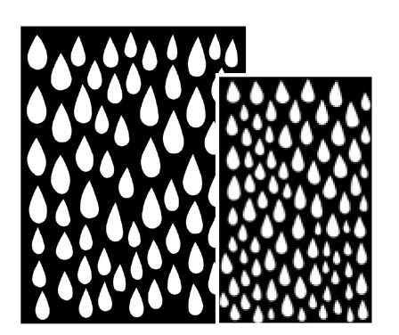 Ranger - Dyan Reaveley - Dylusions - Stencils - Raindrops Large