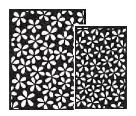 Ranger - Dyan Reaveley - Dylusions - Stencils - Flower Pop Small