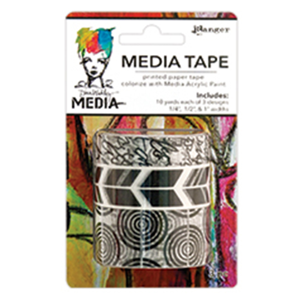 Ranger - Dina Wakley Media - Tape Printed