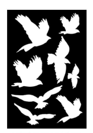 Ranger - Dina Wakley Media - Stencils - Flying Birds Masks