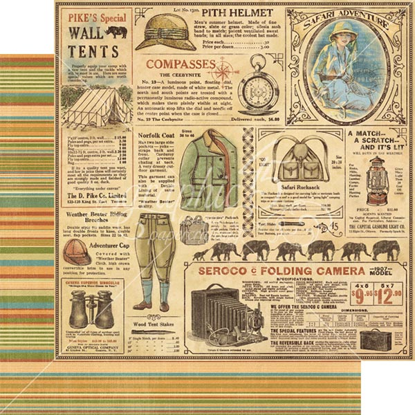 Graphic 45 - Safari Adventure - Serengeti Outfitters 12x12 Paper