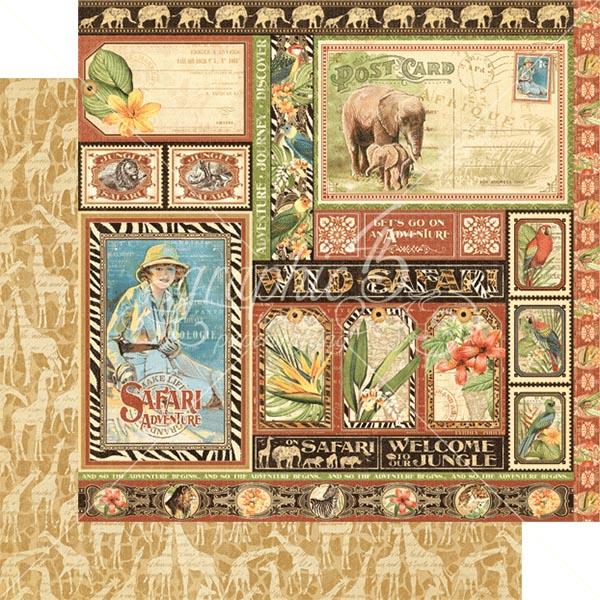 Graphic 45 - Safari Adventure - Amazing Africa 12x12 Paper