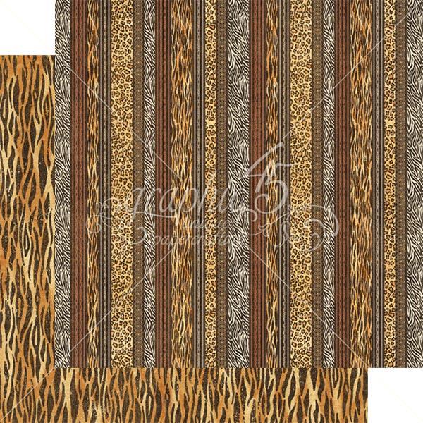Graphic 45 - Safari Adventure - Exotic Patterns 12x12 Paper