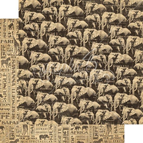 Graphic 45 - Safari Adventure - Great Migration 12x12 Paper