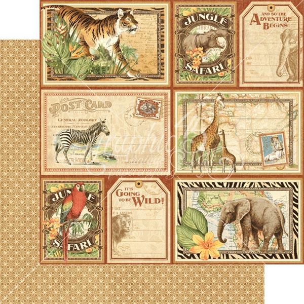 Graphic 45 - Safari Adventure - Jungle Expedition 12x12 Paper