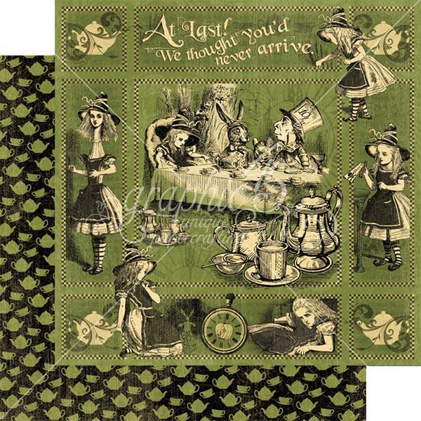Graphic 45 - Halloween in Wonderland - Alices Tea Party 12x12 Paper