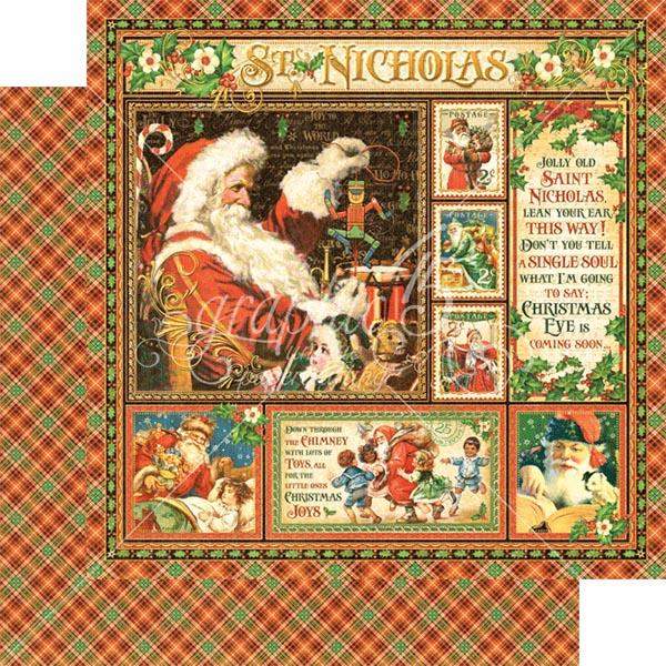 Graphic 45 - St Nicholas - St Nicholas 12x12 Paper