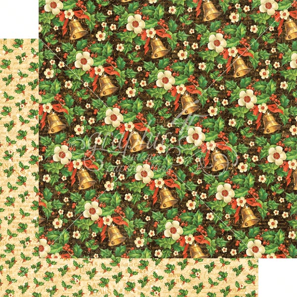 Graphic 45 - St Nicholas - Bells and Bows 12x12 Paper