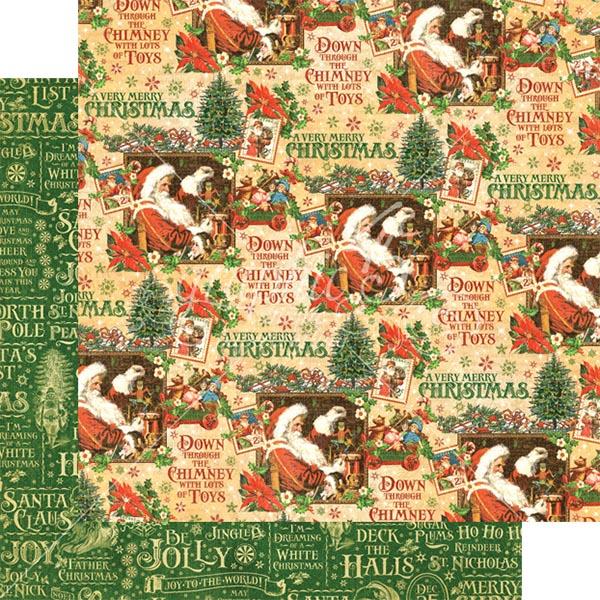 Graphic 45 - St Nicholas - Santas Workshop 12x12 Paper