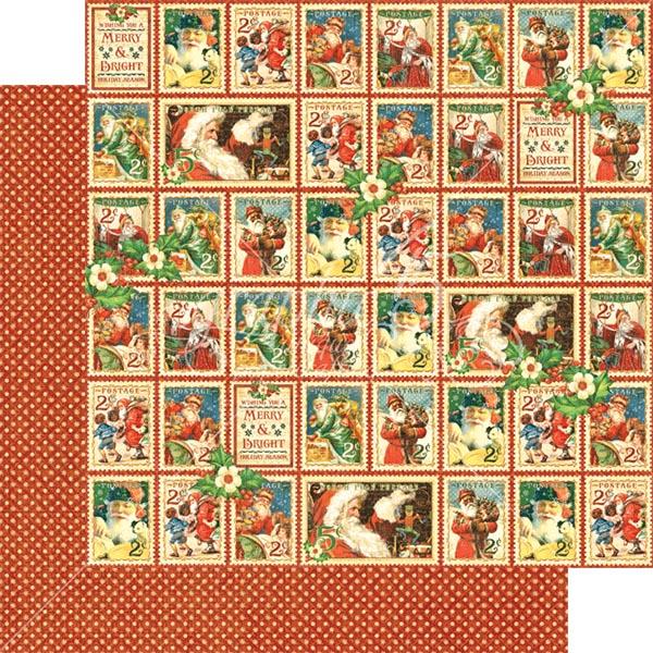 Graphic 45 - St Nicholas - Christmas Cheer 12x12 Paper