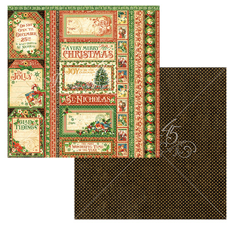 Graphic 45 - St Nicholas - Seasons Greetings 12x12 Paper