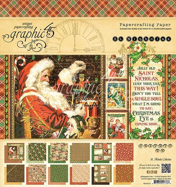 Graphic 45 - St Nicholas - 8x8 Pad