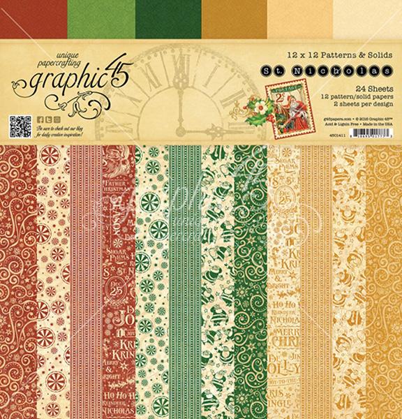 Graphic 45 - St Nicholas - 12x12 Patterns & Solids Pad