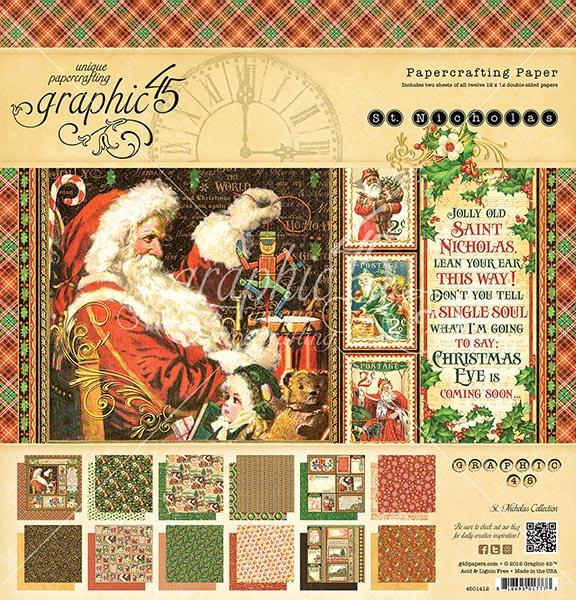 Graphic 45 - St Nicholas - 12x12 Pad