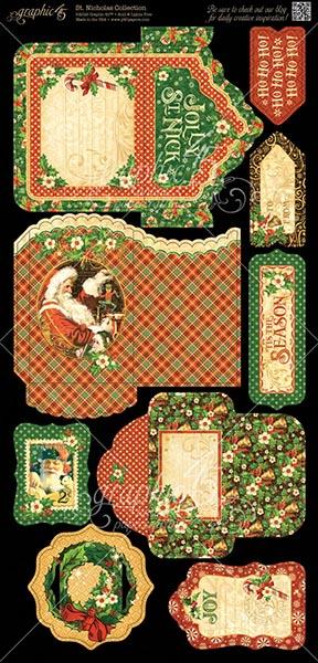 Graphic 45 - St Nicholas - Tags & Pockets