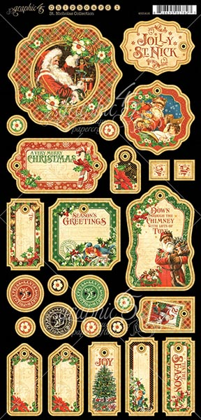 Graphic 45 - St Nicholas - Journaling Chipboard