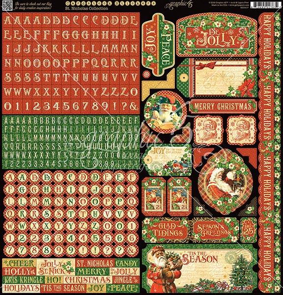 Graphic 45 - St Nicholas - Sticker