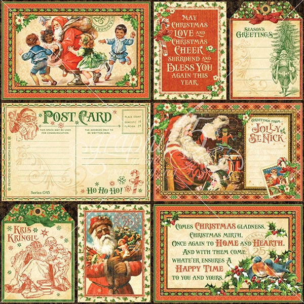 Graphic 45 - St Nicholas - Ephemera Cards