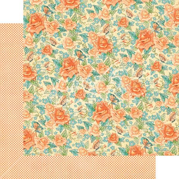 Graphic 45 - Cafe Parisian - Floral Souffle 12x12 Paper